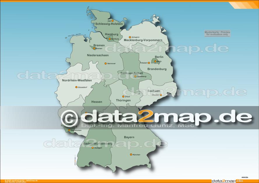 Digitale Plz Karte Deutschland Kostenlos.Landkarten Shop Fur Powerpoint Und Adobe Illustrator